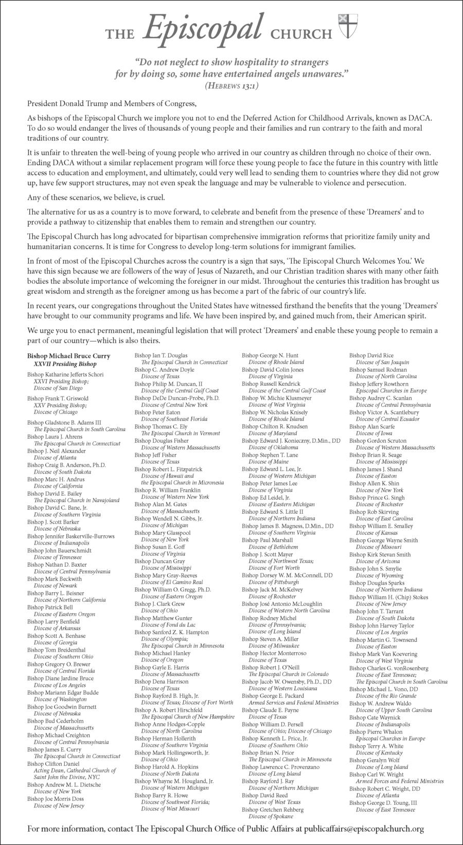 EC Sept 2017 DACA Open Letter